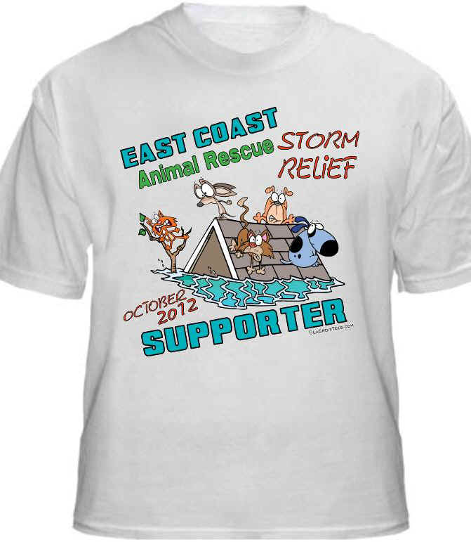 T-shirt Front: Hurricane Sandy Storm Relief Shirt